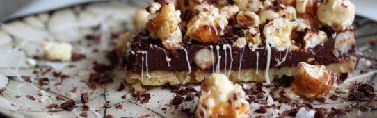 Salted Caramel Popcorn and Chocolate Tart.